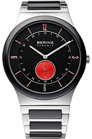 Bering Men's Ceramic Quartz Watch with Dial Analogue Display and Ceramic Bracelet