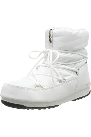 Moon-boot Unisex Adults Low Nylon Wp2 Snow Boots, (Bianco 002)