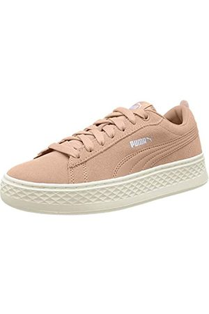 Puma Women's Smash Platform SD Low-Top Sneakers, (Peach Bud -Whisper )