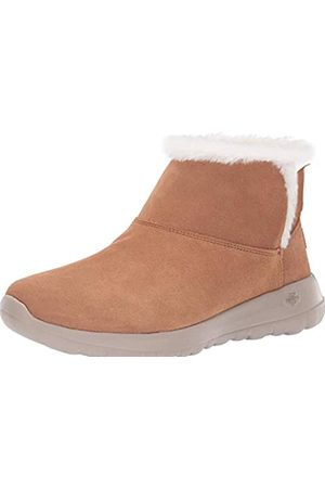 Skechers Women's ON-The-GO Joy-Bundle UP Ankle Boots, (Chestnut Suede Csnt)