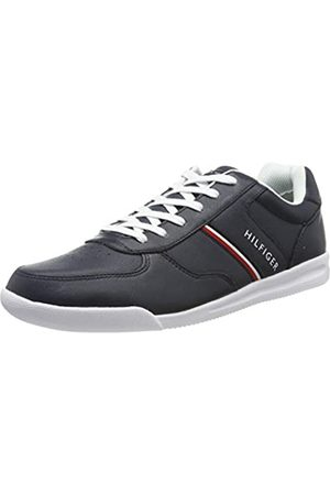Tommy Hilfiger Men's Lightweight Leather Sneaker Low-Top, (Midnight Cki), 45 EU