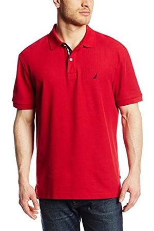 Nautica MensK41050Classic Short Sleeve Solid Polo Shirt Spread Collar Short Sleeves Polo Shirt - - S