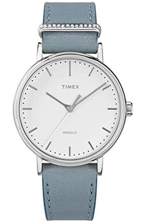 Timex Womens Analogue Classic Quartz Watch with Leather Strap TW2R70300