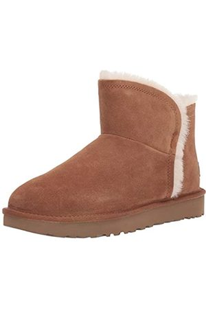 UGG Women's W Classic Mini Fluff HIGH-Low Ankle Boots, (Chestnut Che)