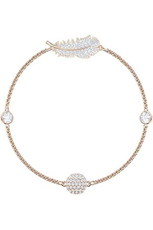 Swarovski Women's Rose-Gold Tone Plated Crystal Remix Collection Feather Strand Bracelet 5511003