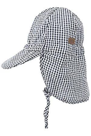 Melton Boy's Sommerhut mit Schirm und Nackenschutz UV 30+, Kariert Cap