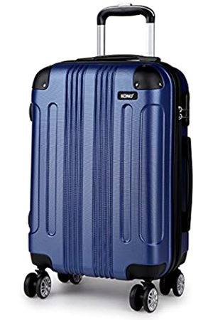 "Kono Hardside ABS Carry On Luggage with 4 Spinner Wheels Navy 20 Inch Suitcase (Navy 20"")"