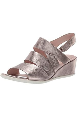 ECCO Women's Shape 35 Wedge Sandal Open Toe Heels, (Stone Metallic 51147)