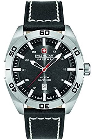 Swiss Military Men's Quartz Watch with Dial Analogue Display and Leather Strap 6-4282.04.007