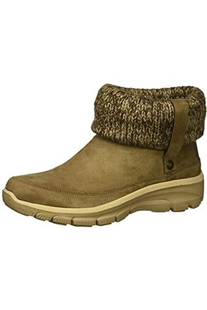 Skechers Women's Easy Going-Heighten Ankle Boots, (Taupe Microfiber/Knit TPE)