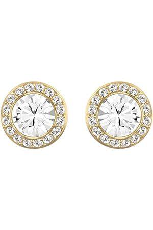 Swarovski Women's Gold-Tone Plated Crystal Angelic Stud Pierced Earrings 5505470