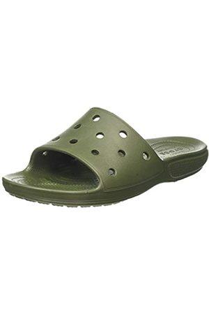 Crocs Unisex Adult's Classic Slide Open Toe Sandals, (Army 309)