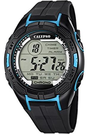 Calypso Men's Digital Watch with LCD Dial Digital Display and Plastic Strap K5627/2