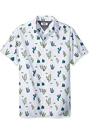 Tommy Hilfiger Men's Summer Print Camp Short Sleeve Classic Casual Shirt