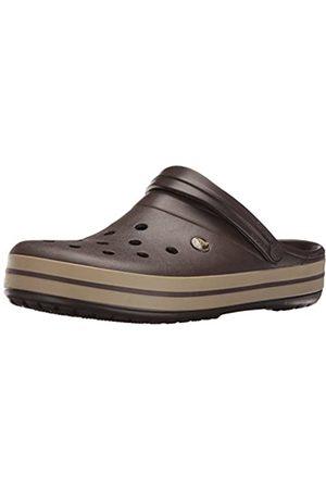 Crocs Unisex-Adult's Crocband Clogs, (Espresso/Khaki)