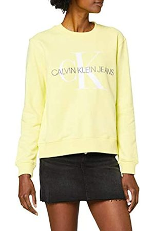 Calvin Klein Women's Vegetable DYE Monogram Crew Neck Sweatshirt