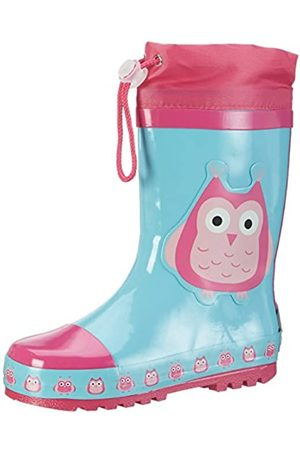 Playshoes GmbH Rubber Boots Owls, Unisex Kids' Wellington Boots, Multi-Colored (Mehrfarbig)