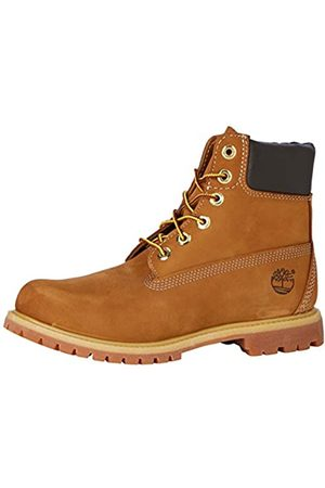 Timberland Women's 6 Inch Premium Waterproof Lace-up Boots, (Rust Nubuck)