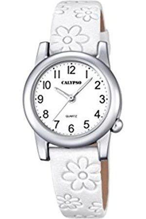 Calypso Girls Analogue Classic Quartz Watch with Leather Strap K5710/1