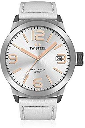 TW Steel Mens Analogue Quartz Watch with Leather Strap TWMC44
