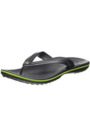 Crocs Unisex Adults' Crocband Flip Flip Flop Sandals Flip Flop, (Graphite/Volt )