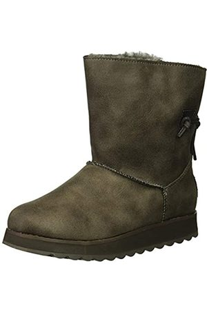 Skechers Women's Keepsakes 2.0-Hearth Ankle Boots, (Charcoal Leather Ccl)