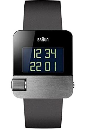 von Braun Men's Quartz Watch with Dial Digital Display and rubber Strap BN0106SLBKG