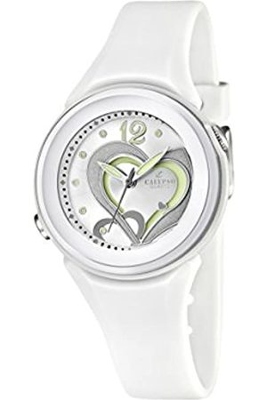 Calypso Women's Quartz Watch with Silver Dial Analogue Display and Plastic Strap K5576/1