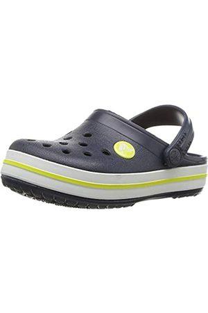 Crocs Crocband Clog K, Unisex-Child Clogs, (Navy/Citrus 42k)
