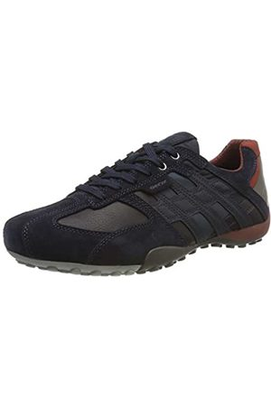 Geox Men's Uomo Snake E Low-Top Sneakers, (Navy/Cigar Cf46l)