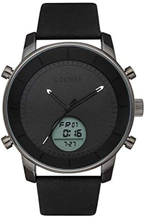 s.Oliver Mens Analogue-Digital Quartz Watch with Leather Strap SO-3620-LD