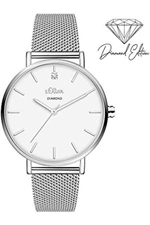 s.Oliver Womens Analogue Quartz Watch with Stainless Steel Strap SO-3958-MQ
