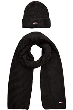 Tommy Hilfiger Men's Tjm Basic Rib Scarf & Beanie Gp Scarf, Hat & Glove Set