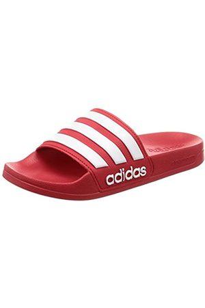 adidas Men's Adilette Shower Slide Sandal, Scarlet/Footwear /Scarlet
