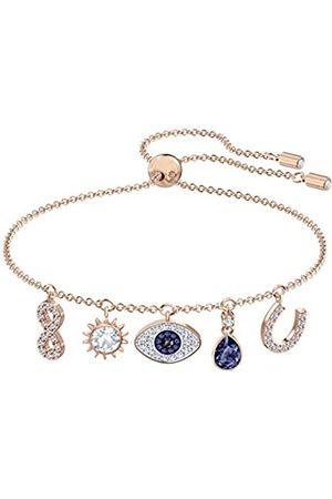 Swarovski Women's Rose-Gold Tone Plated Multicoloured Crystal Symbolic Bracelet 5497668