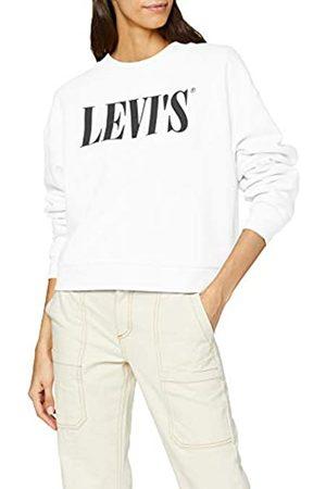 Levi's Women's Graphic Diana Crew Sweatshirt, (90's Serif + 0000)