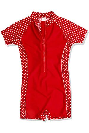 Playshoes Girl's UV Sun Protection All-in-One Polka Dot Swimsuit