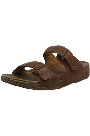 Fitflop Men's Gogh Moc Leather Open Toe Sandals, (Chocolate 167)