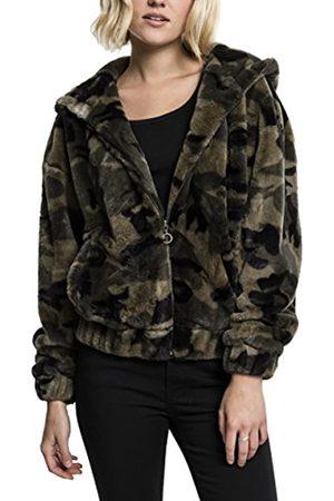 Urban classics Women's Ladies Teddy Jacket Hooded Sweatshirt