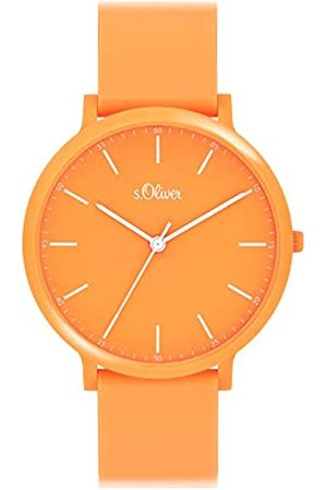 s.Oliver Unisex's Analogue Quartz Watch with Silicone Strap SO-4065-PQ
