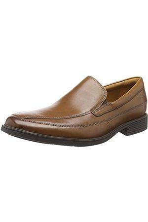 Clarks Men's Tilden Free Loafers, (Dark Tan Leather)