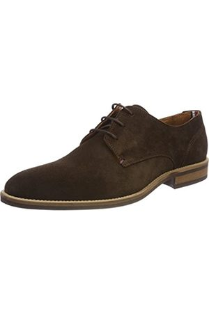 Tommy Hilfiger Men's Essential Suede Lace Up Derby Oxfords, (Coffee Bean 212)
