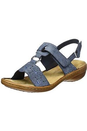 Rieker Women's 60843 Closed Toe Sandals, (Jeans 14)