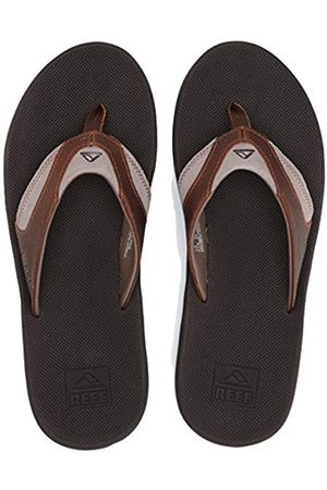 Reef Men's 4 Leather Fanning Flip-Flop, /