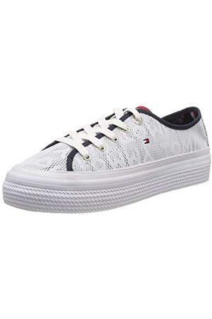 Tommy Hilfiger Damen Tommy Jacquard Flatform Sneaker, Weiß ( 100)