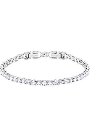 Swarovski Women's Rhodium plated Tennis Deluxe Bracelet 5409771