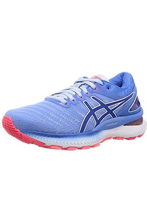Asics Women's Gel-Nimbus 22 Running Shoe, Soft Sky/Tuna