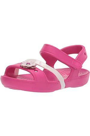 Crocs Unisex Kids Lina Charm Sandal K Heels, (Candy )