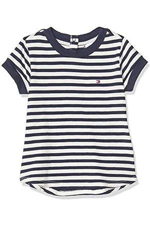 Tommy Hilfiger Girl's Essential Stripe TOP S/S T-Shirt, ( /Twilight Navy 0FB)