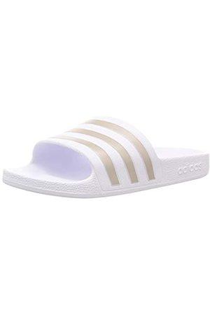 adidas Adilette Aqua Slide Sandal, Footwear /Platin Metallic/Footwear